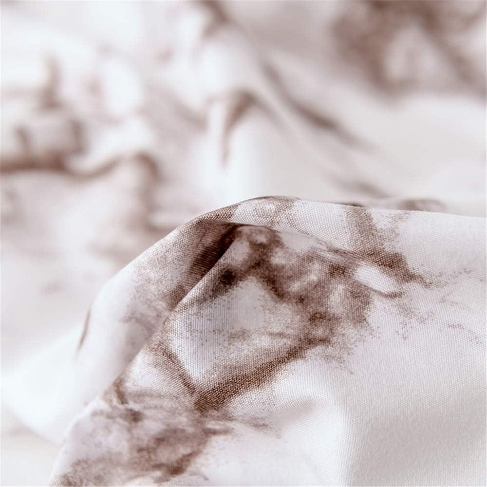 s/úper Suave y c/álida *1 ,Patr/ón de m/ármol A-1 135 * 200cm+ DUJUN Juego de Funda n/órdica Transpirable Juego de Ropa de Cama c/ómoda Juego de edred/ón Doble 50 * 75cm