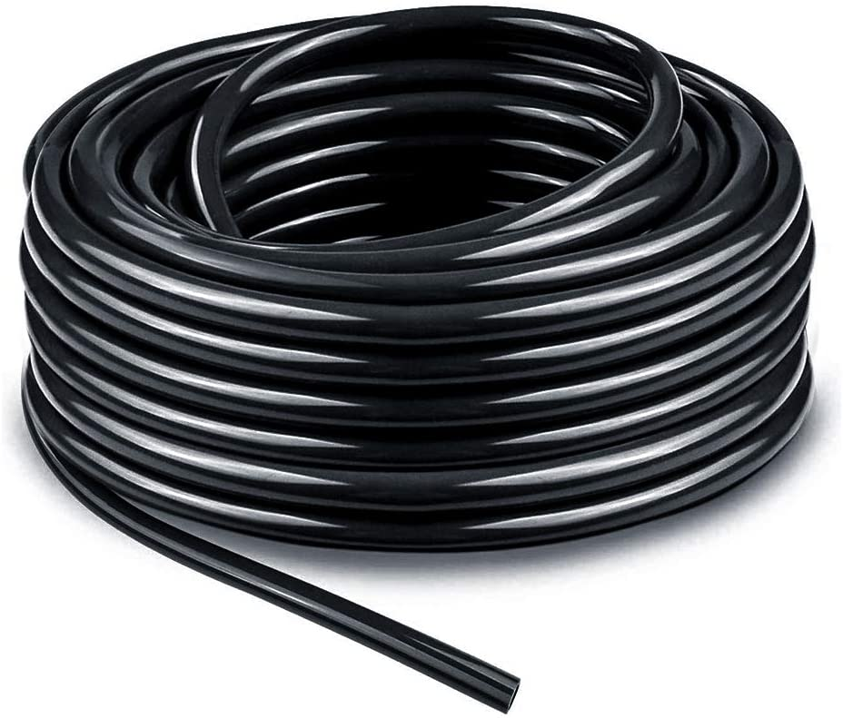 Bonviee 50ft 1/4 inch Blank Distribution Tubing Drip Irrigation Hose Garden Watering Tube Line for Small Garden Irrigation System
