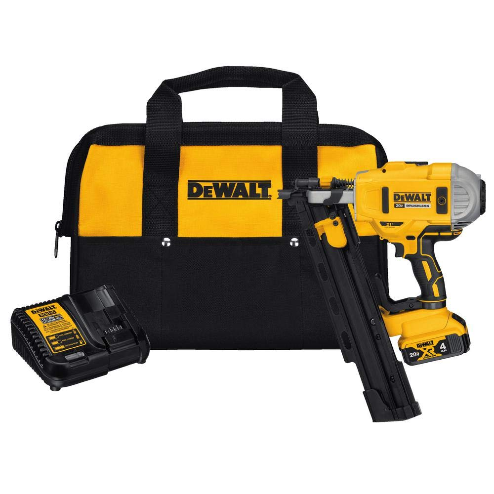 DEWALT DCN21PLM1 20V MAX 21° Plastic Collated Cordless Framing Nailer Kit by DEWALT