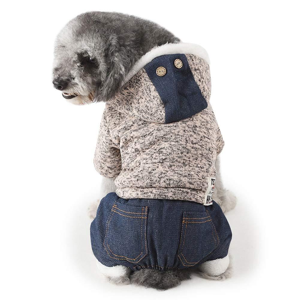 ZCY Vestiti Animale Domestico Inverno Caldo Moda Maglieria Lana Cappuccio Addensare Vestiti per Cani per Cucciolo Gatto Costume (colore, Dimensioni   M)