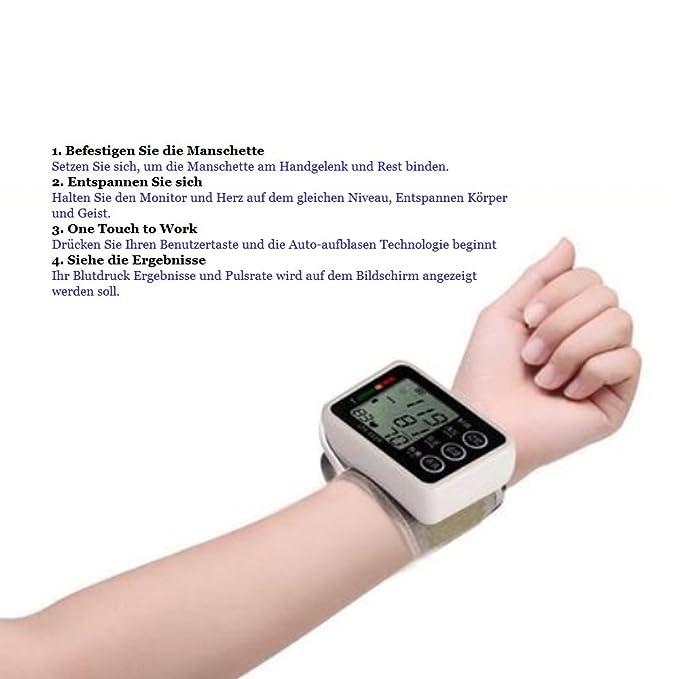 Presión arterial - Tensiómetro de brazo - gelunbu Medir arritmias ...