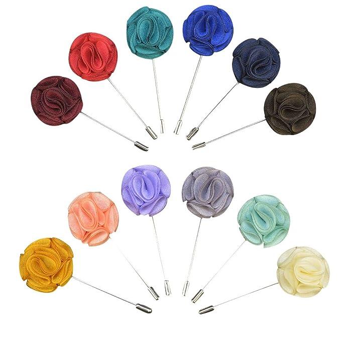 Soleebee YM012 Broches de Solapa, Mixto Aleatorio Flores de ...