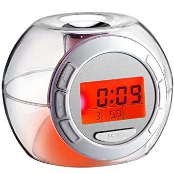 joyliveCY Reloj de Alarma Digital Sleep Night Light con ...