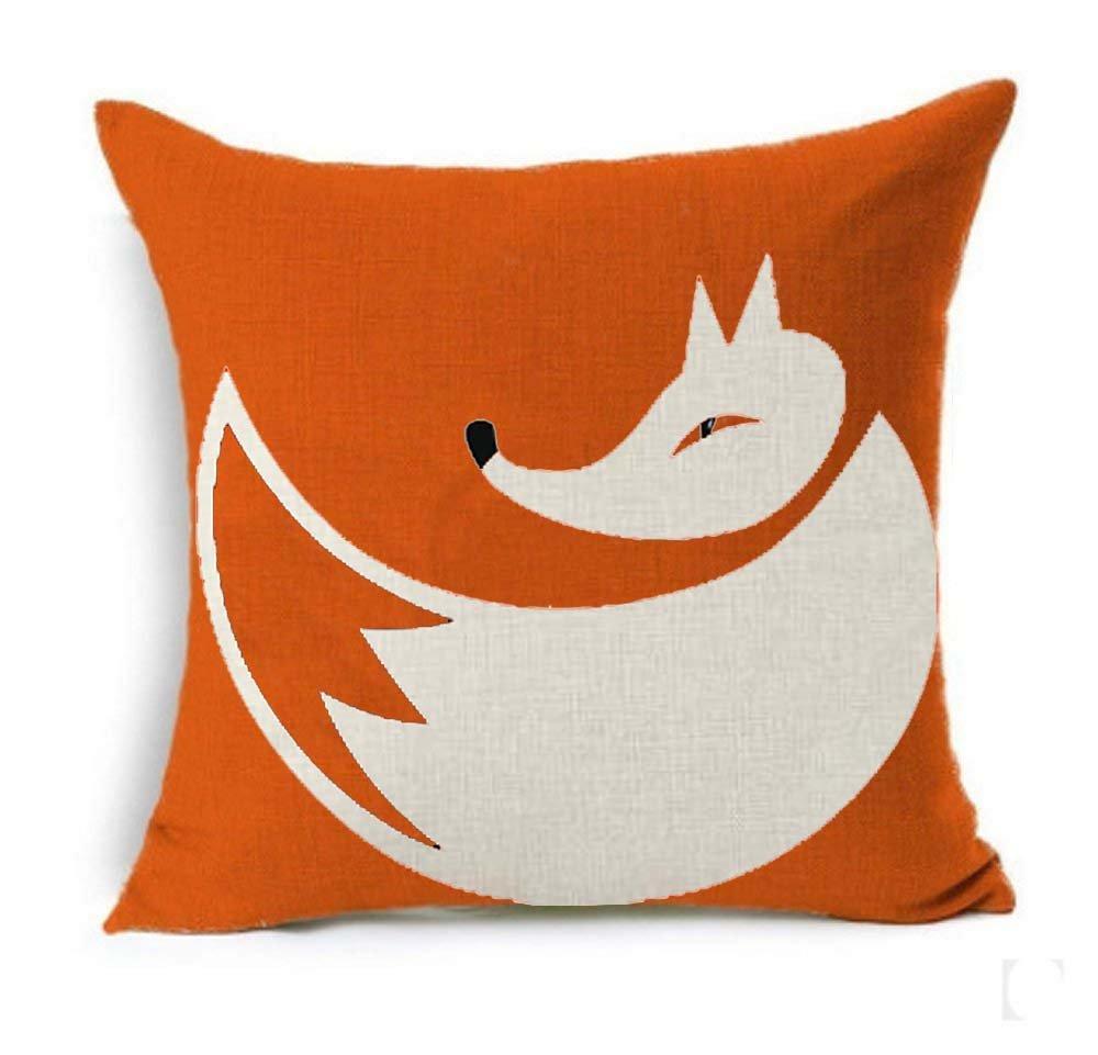 5 SLS Cotton Linen Decorative Throw Pillow Case Cushion Cover lion Piillow case 18 X18 fox