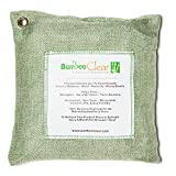 Bamboo Clear: Premium Activated Charcoal Air Purifying Bag - Natural Way to Remove Odors, Bacteria and Allergens - Perfect Purifier for Home and Car Use (500g, Green)