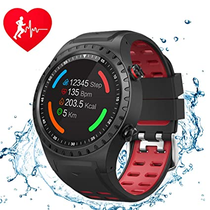 CTUDP M1 GPS Smart Watch Bluetooth IP67 Waterproof Watch, 1.3 inch 240240 Full-Screen Black Smart Man Watch with Global Positioning System,Pedometer ...
