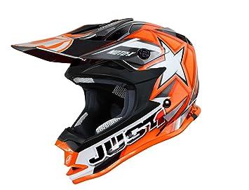 Just 1 Helmets - J32 Moto X Casco de Motocross, Naranja, XS