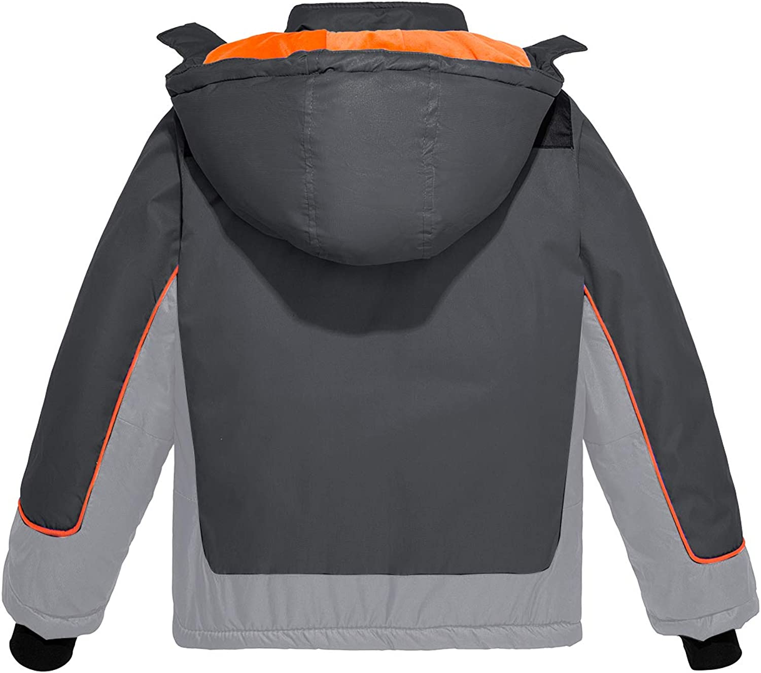 Boys Hooded Long Sleeve Waterproof and Warm with Thick Fleece Winter Outdoor Jackets