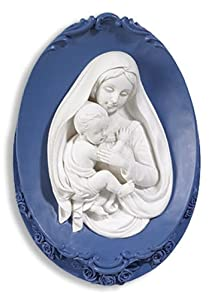 Christian Brands Madonna and Child 6 Inch Resin Wall Plaque
