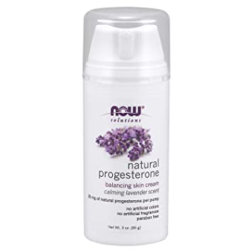 Now Solutions, Natural Progesterone, Balancing Skin Cream with Lavender, 20  mg of Natural