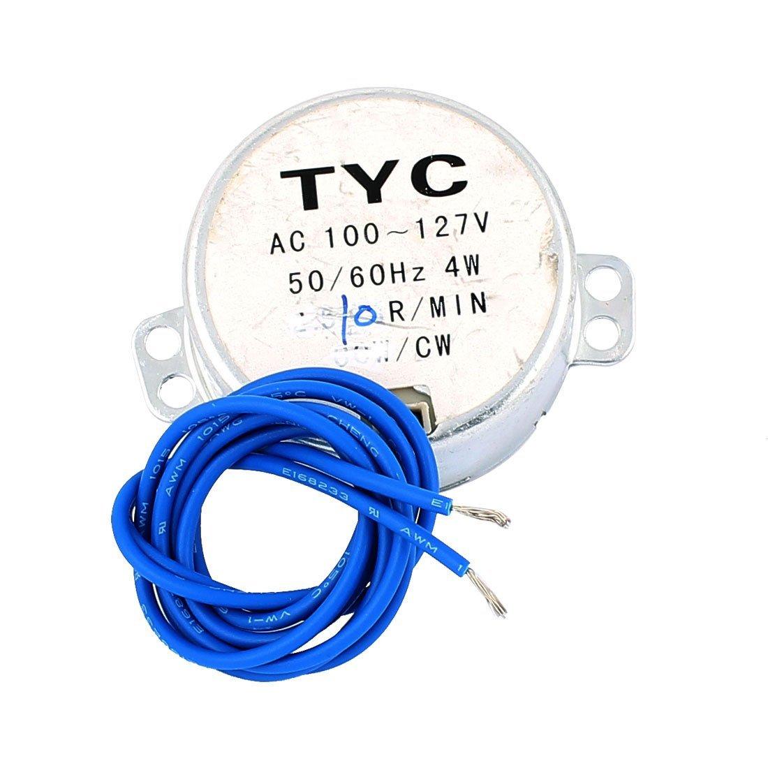 eDealMax AC 100-127 10 rpm de velocidad de salida CW motor síncrono de TYC - - Amazon.com
