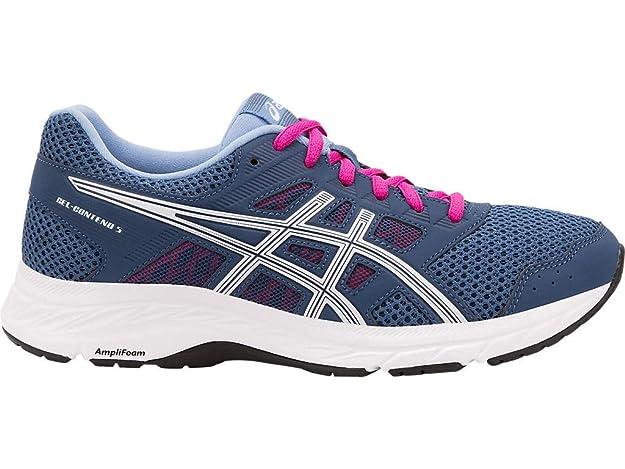 ASICS Women's Gel-Contend 5 Running Shoes, 5M, Grand Shark/White