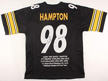 e465e5c40 Casey Hampton Autographed Jersey - Stat TSE Big Snack - Autographed ...