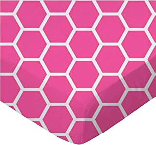 product image for SheetWorld Fitted Cradle Sheet - Hot Pink Honeycomb - Made In USA
