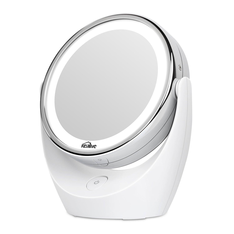 Kealive specchio per trucco doppio lato specchio cosmetico - Specchio per trucco illuminato ...