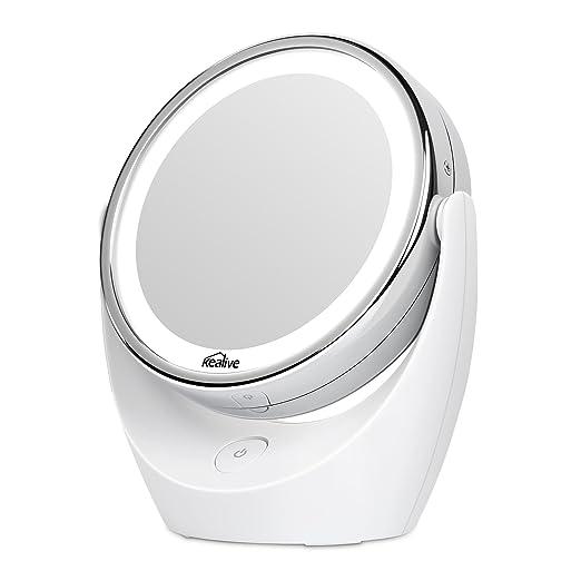 93 opinioni per Kealive Specchio per Trucco Double Face Specchio Cosmetico Illuminato con Luci