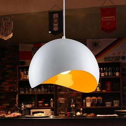 Luz Negro Simple Colgante Lámpara Aluminio Blanco De Onda Curva Ov80wmNn