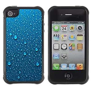 "Pulsar iFace Series Tpu silicona Carcasa Funda Case para Apple iPhone 4 / iPhone 4S , Rocío Gotas De Agua Gotas Lluvia de metal"""