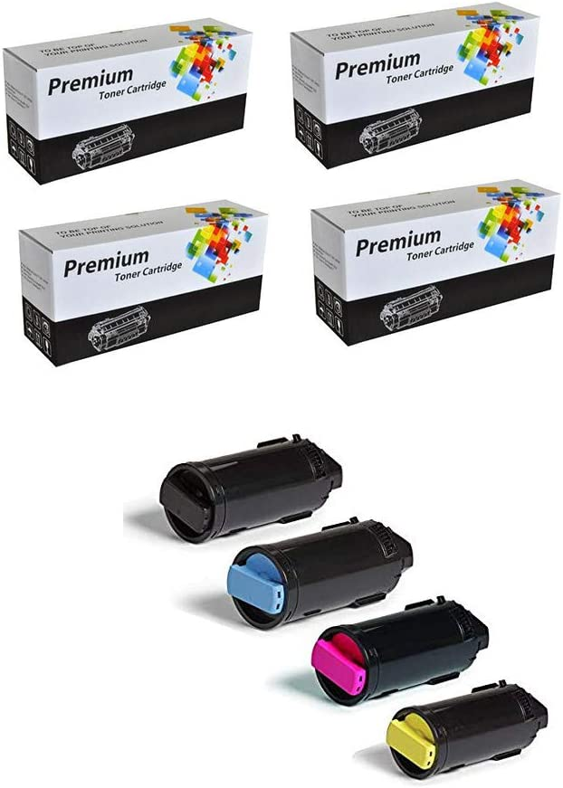 106R03903 Compatible Toner Cartridge Set for Xerox VersaLink C600 C605 106R03902 Clearprint 106R03900 106R03901