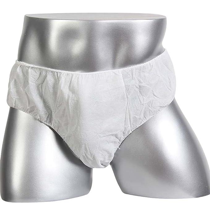 c43330599b54 Kseey Men Disposable Underwear Travel Underwear Shorts Briefs White ...