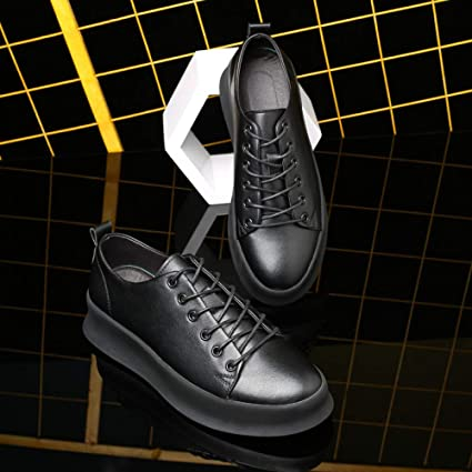 27eca8bc Hasag Calzado Deportivo New Fashion Casual Zapatos Transpirables para Hombres  Zapatos Blancos Simples, Negro,