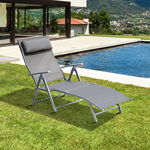 New MTN-G Folding Lounge Chair Reclining Zero Gravity Outdoor Patio Beach Camping