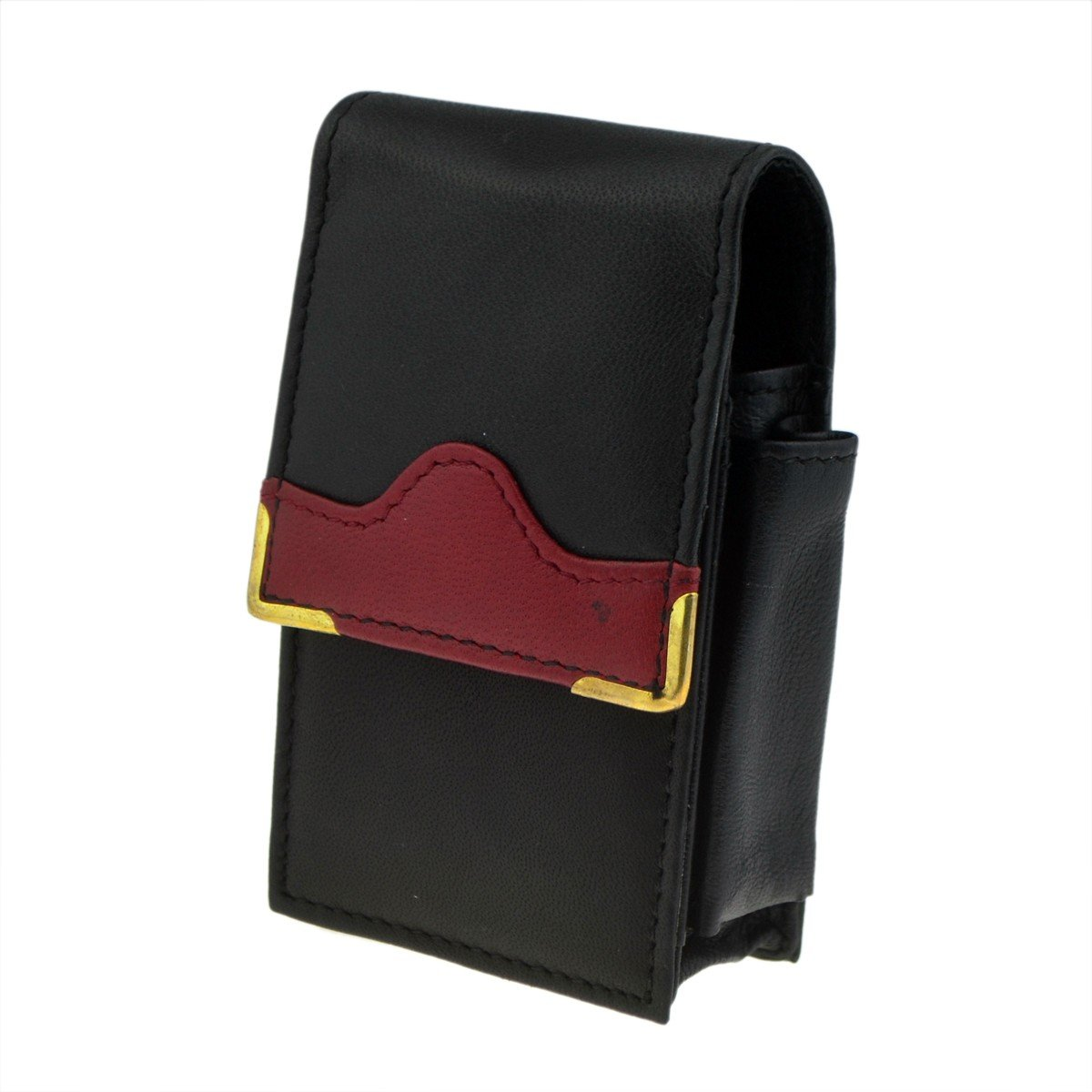 CP6099 Black /& Red Hill Leather Packet Holder