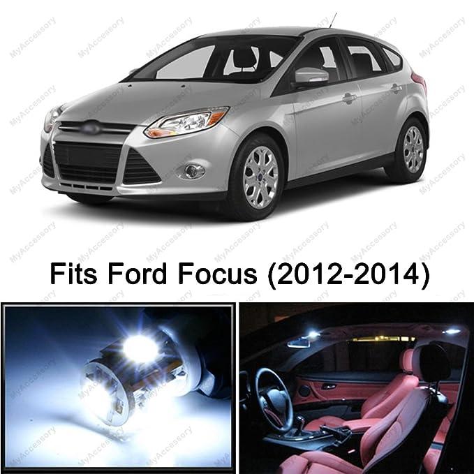 6 x PREMIUM Xenon Blanco Led luces interior paquete actualización para Ford Focus (2012 - 2014): Amazon.es: Coche y moto