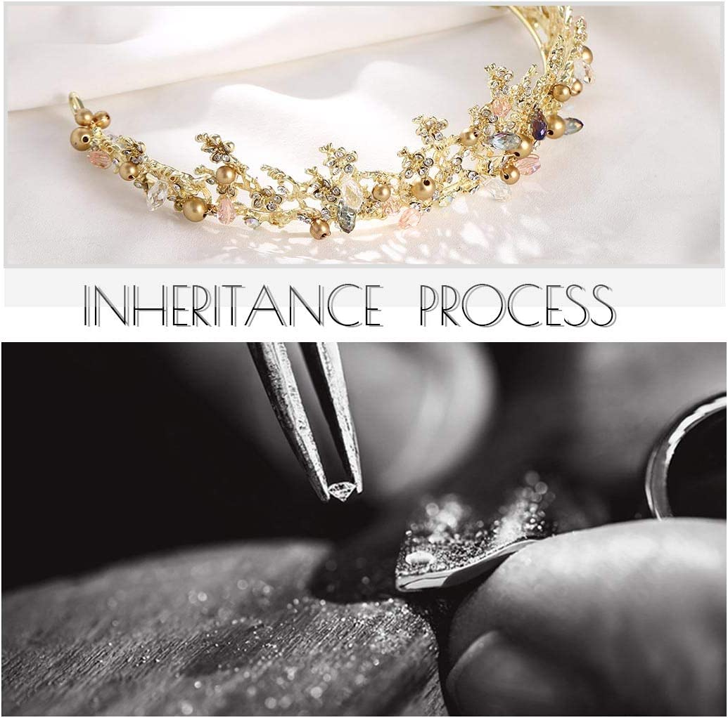 Forall Tiare de princesse en cristal fait main couronne de princesse strass boucles doreilles mariage accessoires pour femmes et filles