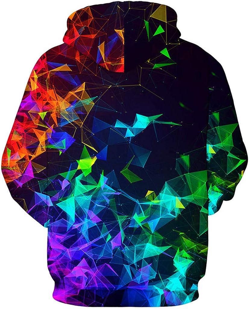 FLYCHEN Mens Digital Print Sweatshirts Hooded Top Galaxy Pattern Hoodie