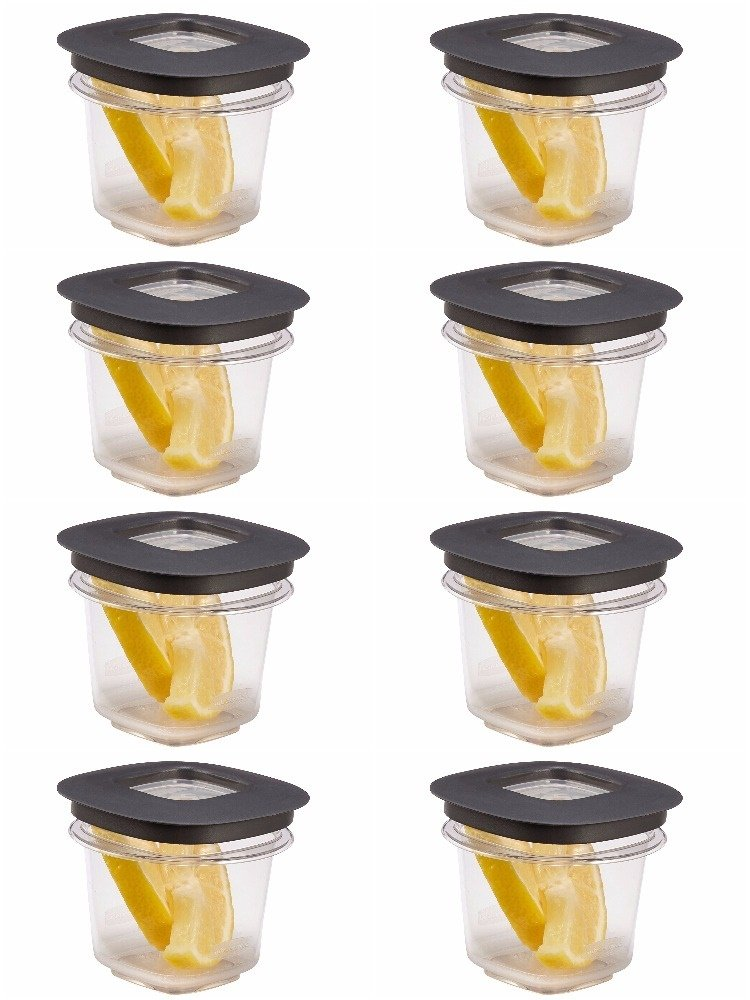 Rubbermaid Premier Food Storage Containers, 0.5 Cup, Grey (8 Pack)