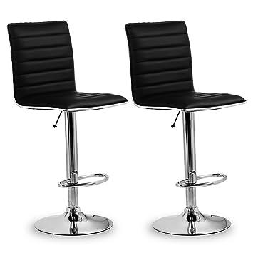 Bar Stühle homfa 2x barhocker barstühle design hocker mit fußablage drehbar