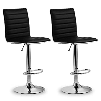 Barstühle homfa 2x barhocker barstühle design hocker mit fußablage drehbar
