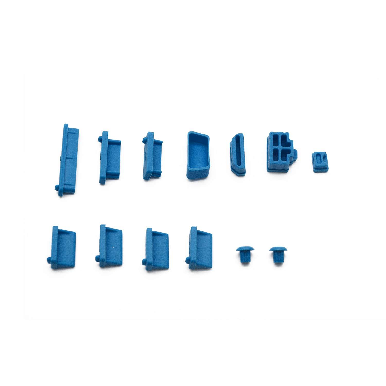 Orange Antrader General Silicone Anti Dust Stopper//Plug-13 Piece Set