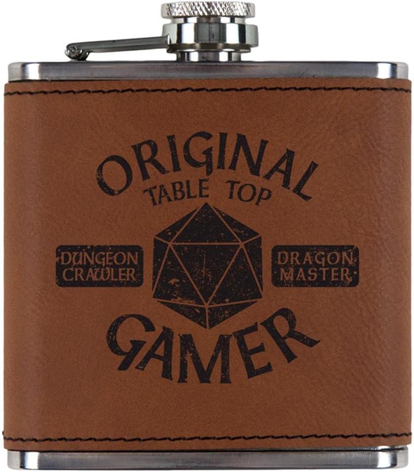 Og元Gamer d20テーブルトップEdition Etched Leatheretteフラスコ OneSize 00184622-RAW-OS