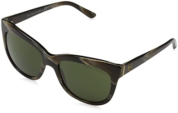 Ralph Lauren Damen Sonnenbrille 0RL81583471, Braun (Brown Horn/Dark Green), 54