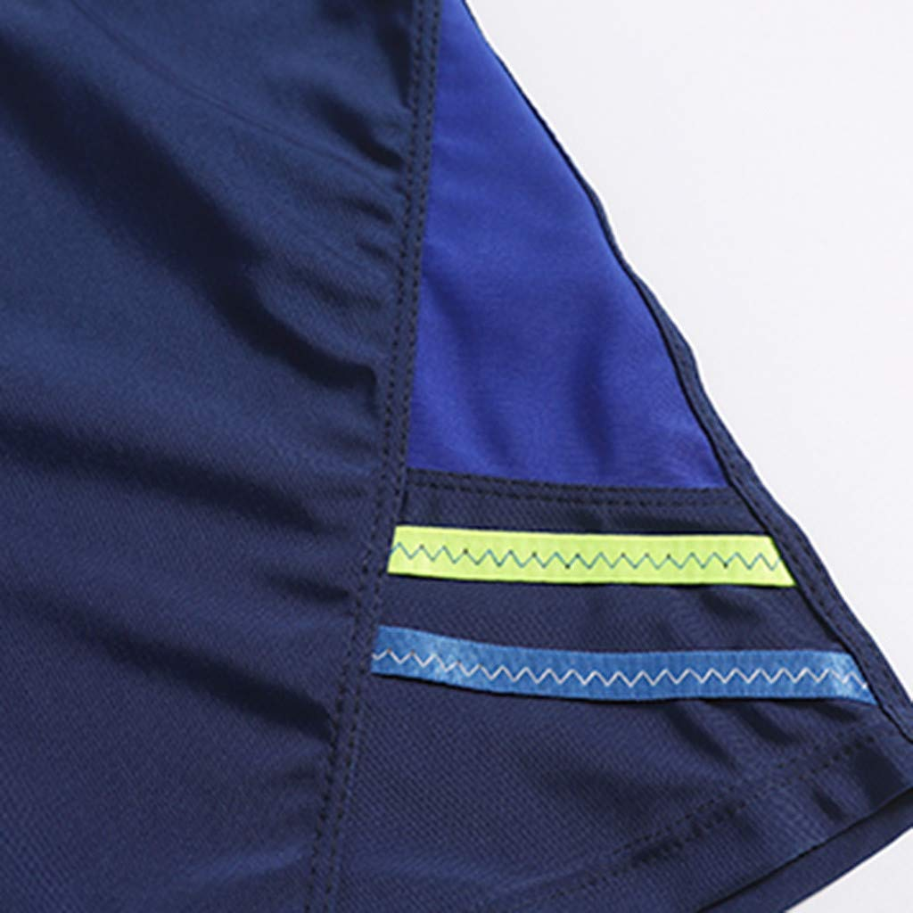 Summer Shorts Plus Size Simayixx Men Basic Swimming Trunk Surf Shorts Swimsuits Boxer Briefs Big and Tall Outdoor Pants Blue by Simayixx Blouse (Image #6)