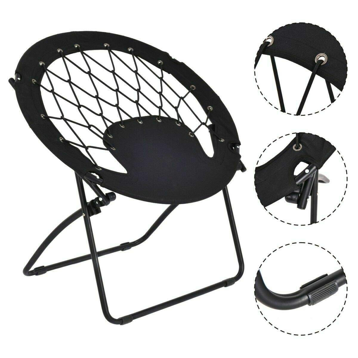 Wondrous Amazon Com Winmart New Folding Round Bungee Chair Steel Download Free Architecture Designs Rallybritishbridgeorg