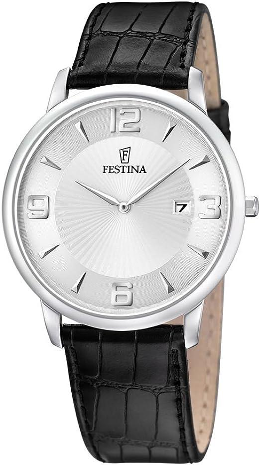 FESTINA F68061 Reloj de Caballero de Cuarzo, Correa de Piel Color Negro