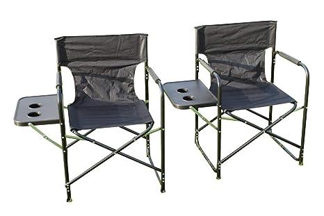 Set di 2 sedie da regista pieghevole completo con tavolino sedie