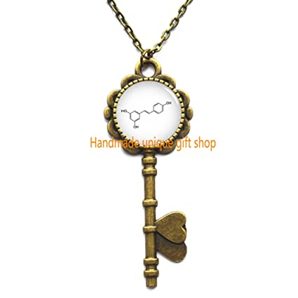 Amazon Fashion Key Necklace Chemical Symbol Jewelry Chemical