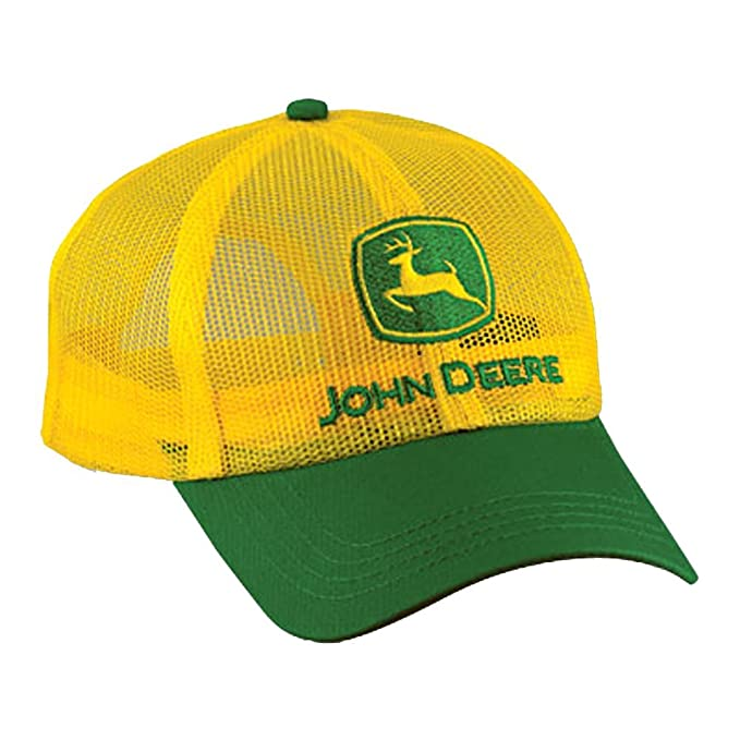 6e225c3aae64c8 Image Unavailable. Image not available for. Color: John Deere Yellow Full  Mesh Cap