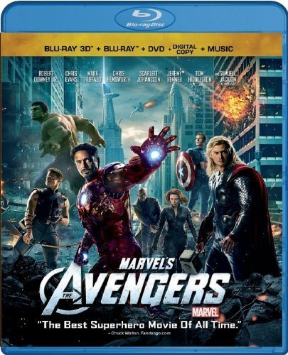 Marvel's The Avengers (Four-Disc Combo: Blu-ray 3D/Blu-ray/DVD + Digital Copy + Digital Music Download) by Walt Disney Home Entertainment (Marvels Avengers 3d Blu Ray compare prices)