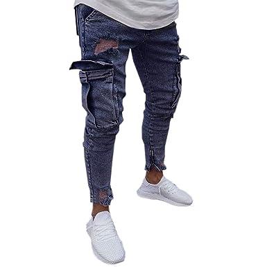 Pantalones Vaqueros Para Hombre Pantalones Casuales De Gran Tamaño ...