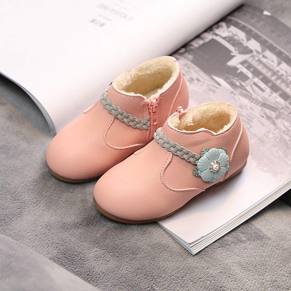 Children Kid Girls Solid Flower Weave Princess Soft Warm Boots Shoes,Outsta Student Casual Sneaker