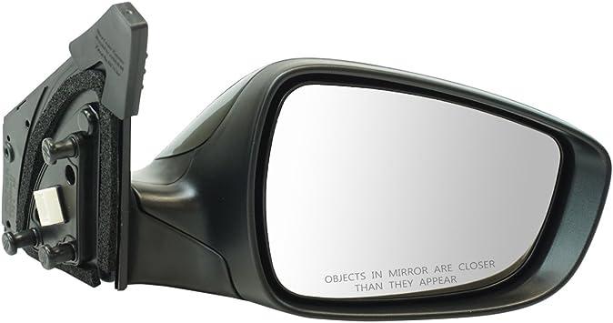 Exterior Power Mirror Heated w// Turn Signal Black Smooth Pair for Elantra