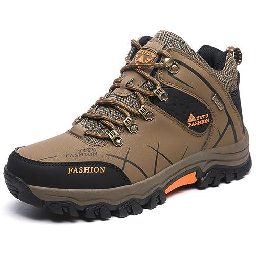 Hombre Senderismo Zapato para Caminar Casual Transpirable Zapatillas Resistentes Al Desgaste Zapatos De Montaña Hombre Viajando Uso Diario Junior Trainers: ...