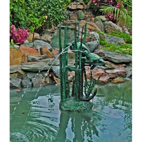 Undersea Turtles Solid Bronze Garden Sculpture Statue / Fountain