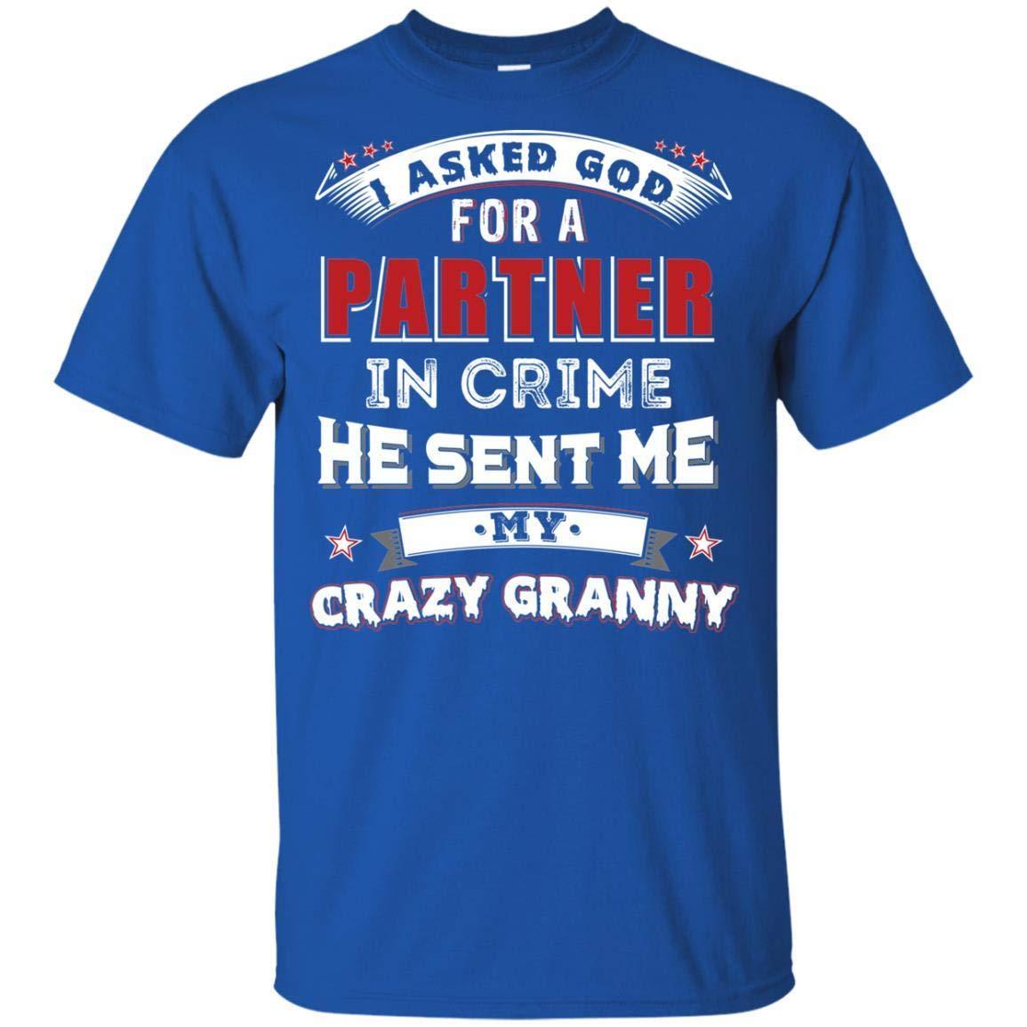 KeyVic I Asked God for A Partner in Crime He Sent Me My Crazy Granny Kid T-Shirt