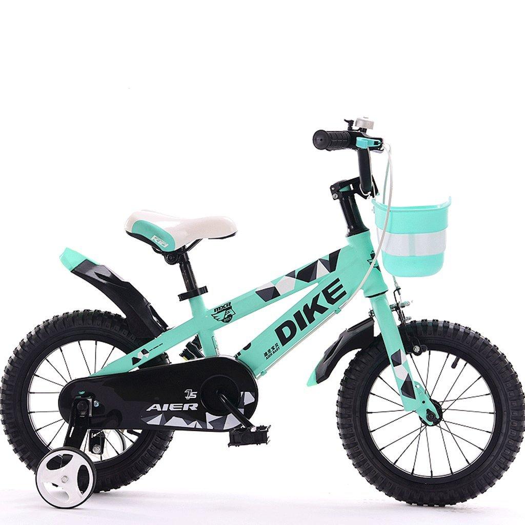 DGF 子供用自転車12/14/16/18インチ3-12歳の男の子と女の子赤ちゃん用自転車三輪車 (色 : 緑, サイズ さいず : 12インチ) B07F1MLSD3 12インチ|緑 緑 12インチ
